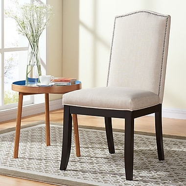 !nspire Dining Chairs, Beige Linen Fabric, 2/Set, (202-796BEG)