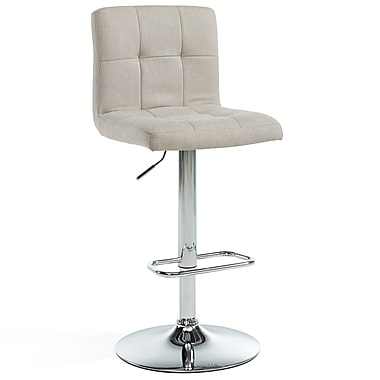 WHI Adjustable Chrome Stools, 2/Set, (203-172BG)