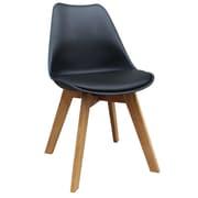 !nspire – Chaises de salle à manger en similicuir et en chêne massif, ensemble de 2, (403-122BK)