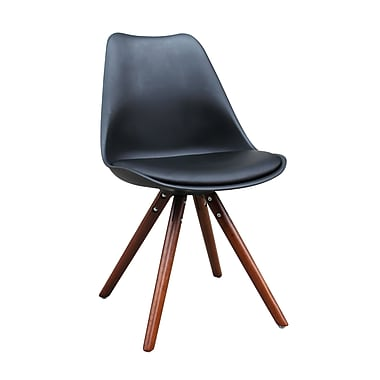 !nspire Faux Leather Solid Beech Dining Chairs, 2/Set, (403-167BK)