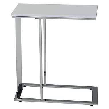 WHI Accent Table, White/Chrome, (501-900WT)