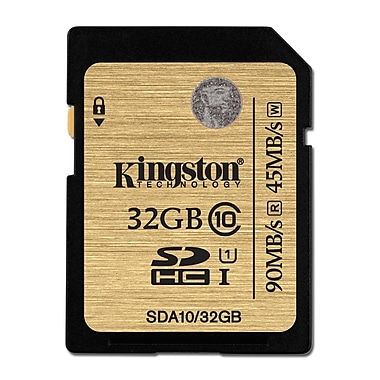 Kingston SDHC Class 10 UHS-I 90MB/s R W Flash Cards