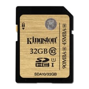 Kingston 32GB SDHC Class 10 UHS-I 90MB/s R W Flash Card, (SDA10/32GBCR)
