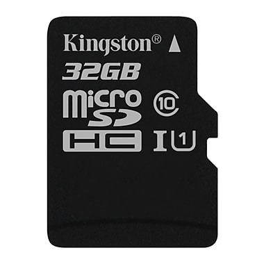 Kingston 32GB microSDHC Class 10 UHS-I 45R Flash Card, (SDC10G2/32GBCR)