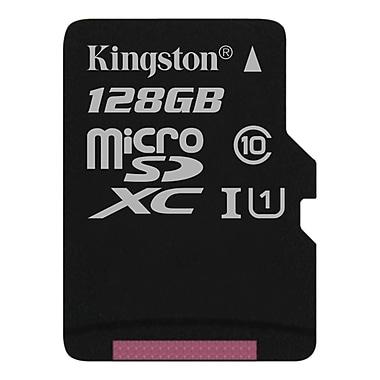 Kingston 128GB microSDXC Class 10 UHS-I45R Flash Card, (SDC10G2/128GBCR)