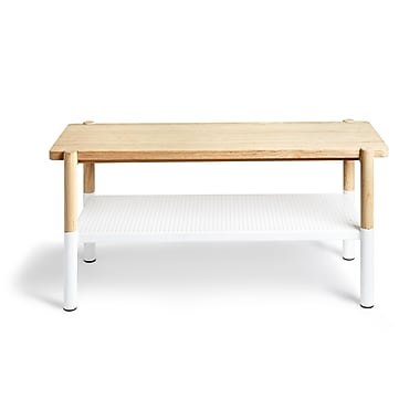 Umbra Promenade Bench, Natural/White (320800-668)