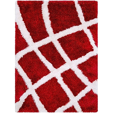 AllStar Rugs Red Area Rug; Rectangle 3'8'' x 5'1''