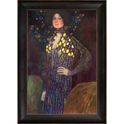 Tori Home Portrait of Emilie Floge' by Gustav Klimt Framed Painting on Wrapped Canvas