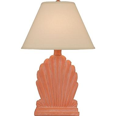 Coast Lamp Mfg. Coastal Living Fan Shell 28'' Table Lamp; Flamenco Pink Wash