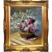 Tori Home Flowers in a Pot by Claude Monet Framed Painting Print