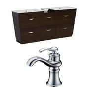 American Imaginations Vee 62'' Double Bathroom Vanity Set