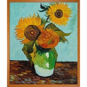 Tori Home Sunflowers, First Version by Vincent Van Gogh Framed Painting
