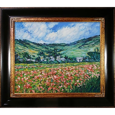 Wildon Home Poppy Field Near Giverny by Claude Monet Framed Painting