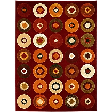 AllStar Rugs Red Area Rug; 3'9'' x 5'1''
