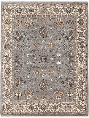 AMER Rugs Artisan Hand-Knotted Gray/Beige Area Rug; 10' x 14'