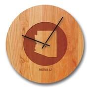 Richwood Creations 13'' Arizona City and State Cherry Wall Clock