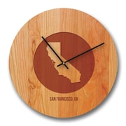 Richwood Creations 13'' California City and State Cherry Wall Clock