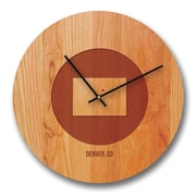 Richwood Creations 13'' Colorado City and State Cherry Wall Clock