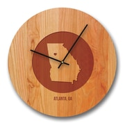 Richwood Creations 13'' Georgia City and State Cherry Wall Clock