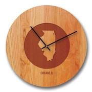 Richwood Creations 13'' Illinois City and State Cherry Wall Clock