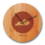 Richwood Creations 13'' Kentucky City and State Cherry Wall Clock