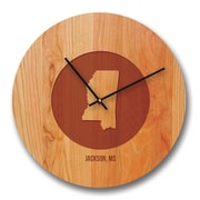 Richwood Creations 13'' Minnesota City and State Cherry Wall Clock
