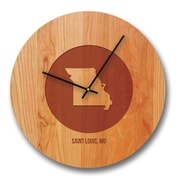 Richwood Creations 13'' Mississippi City and State Cherry Wall Clock