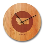 Richwood Creations 13'' Montana City and State Cherry Wall Clock
