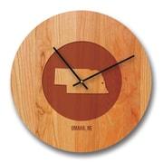 Richwood Creations 13'' Nebraska City and State Cherry Wall Clock