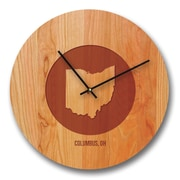 Richwood Creations 13'' Ohio City and State Cherry Wall Clock