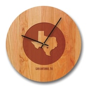 Richwood Creations 13'' Texas City and State Cherry Wall Clock