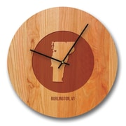 Richwood Creations 13'' Vermont City and State Cherry Wall Clock