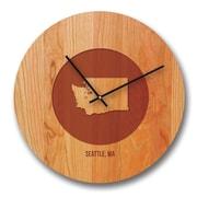 Richwood Creations 13'' Washington City and State Cherry Wall Clock