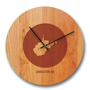 Richwood Creations 13'' West Virginia City and State Cherry Wall Clock