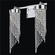 Glow Lighting Intuition 2-Light Crystal Wall Sconce