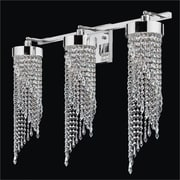 Glow Lighting Intuition 3-Light Crystal Wall Sconce