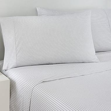 IZOD 200 Thread Count Ticking Stripe Sheet Set; Queen