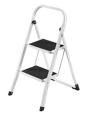 VonHaus 2-Step Steel Step Stool w/ 330 lb. Load Capacity