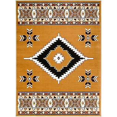 AllStar Rugs Brown Area Rug; 7'7'' x 10'6''