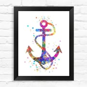 Dignovel Studios Anchor Contemporary Watercolor Framed Graphic Art; 15'' H x 12'' W x 1'' D