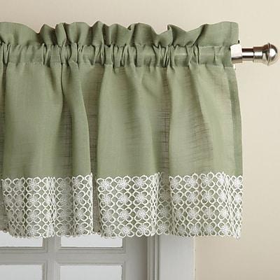 Sweet Home Collection Salem Kitchen 60'' Curtain Valance; Sage