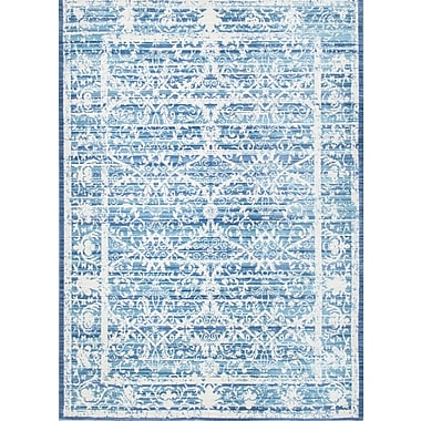nuLOOM Vintage Damaris Dark Blue Area Rug; 5'3'' x 7'7''