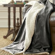 Amrapur Sherpa Micro Mink Reverse Throw; Charcoal