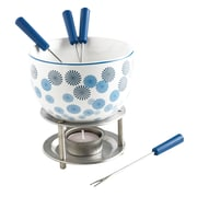 MASTRAD 7 Piece Pompoms Chocolate Fondue Set