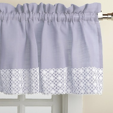 Sweet Home Collection Salem Kitchen 60'' Curtain Valance; Blue