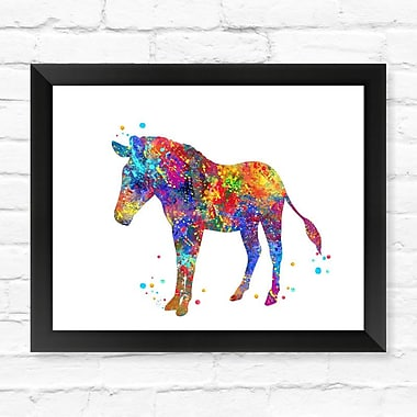Dignovel Studios Horse Contemporary Watercolor Framed Graphic Art; 12'' H x 15'' W x 1'' D