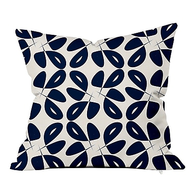 SafiyaJamila Leaves Floral Throw Pillow; 20'' H x 20'' W x 5'' D