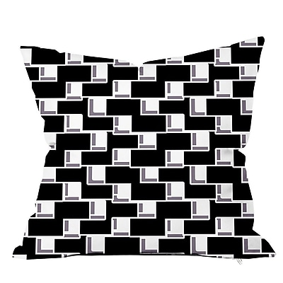 SafiyaJamila All Boxed In II Geometric Throw Pillow; 16'' H x 16'' W x 4'' D