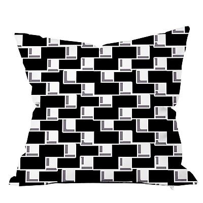 SafiyaJamila All Boxed In II Geometric Throw Pillow; 18'' H x 18'' W x 4'' D