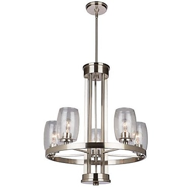 Artcraft Lighting San Antonio 5-Light Candle-Style Chandelier; Brushed Nickel